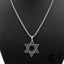 Load image into Gallery viewer, ENXICO Star of David Amulet Hexagram Pendant Necklace ? 316L Stainless Steel (20)