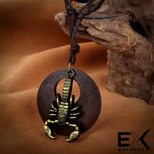 Load image into Gallery viewer, ENXICO Scorpion Scorpius Zodiac Symbol Pendant Leather Necklace ? Animal Spirit Symbol Jewelry