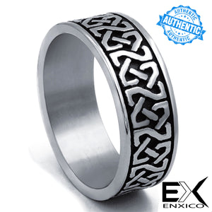 ENXICO Square Celtic Knot Ring ? 316L Stainless Steel ? Irish Celtic Jewelry