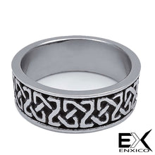 Load image into Gallery viewer, ENXICO Square Celtic Knot Ring ? 316L Stainless Steel ? Irish Celtic Jewelry