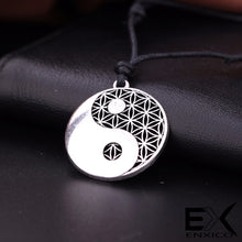 Load image into Gallery viewer, ENXICO Tai Chi with Flower Pattern Amulet Pendant Necklace