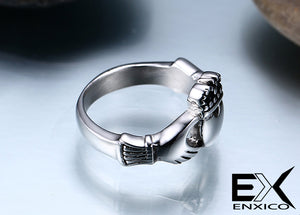 ENXICO Traditional Caddagh Heart Ring for Women ? 316L Stainless Steel ? Irish Celtic Jewelry (10)