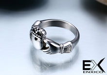 Load image into Gallery viewer, ENXICO Traditional Caddagh Heart Ring for Women ? 316L Stainless Steel ? Irish Celtic Jewelry (10)