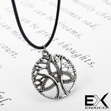 Load image into Gallery viewer, ENXICO Tree of Life & Triquetra Celtic Knot Pendant Necklace for Men Women ? Irish Celtic Jewelry (Silver)