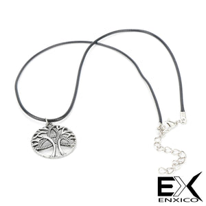 ENXICO Tree of Life & Triquetra Celtic Knot Pendant Necklace for Men Women ? Irish Celtic Jewelry (Silver)