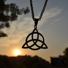 Load image into Gallery viewer, ENXICO Trinity Celtic Knot The Triquetra Pendant Necklace ? 316L Stainless Steel ? Irish Celtic Jewelry