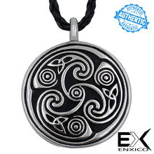 Load image into Gallery viewer, ENXICO Triquetra Celtic Knot Heart Shape Cremation Keepsake Memorial Urn ? 316L Stainless Steel ? Irish Celtic Jewelry
