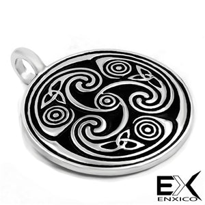 ENXICO Triquetra Celtic Knot Heart Shape Cremation Keepsake Memorial Urn ? 316L Stainless Steel ? Irish Celtic Jewelry
