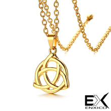 Load image into Gallery viewer, ENXICO Triquetra The Celtic Trinity Knot Pendant Necklace ? 316L Stainless Steel ? Irish Celtic Jewelry