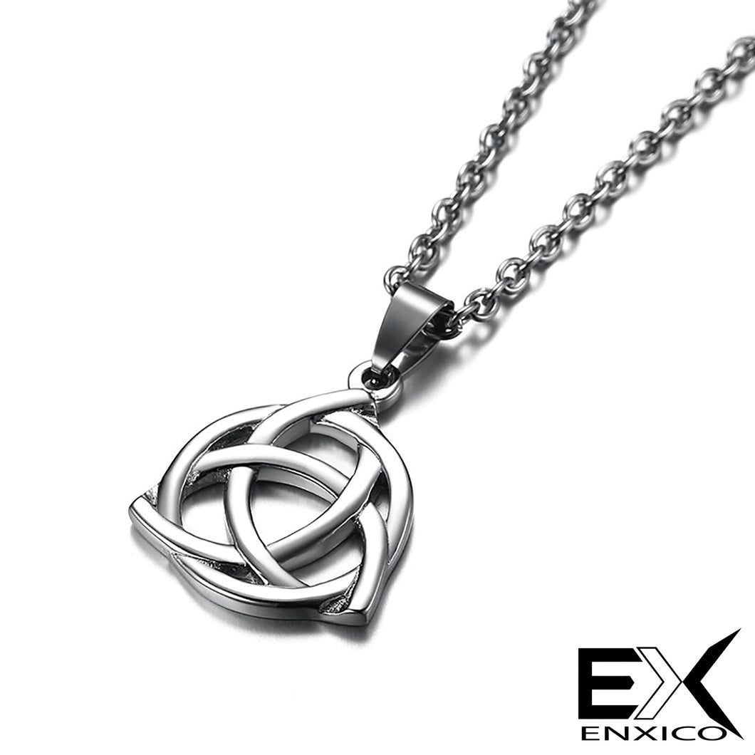 ENXICO Triquetra The Celtic Trinity Knot Pendant Necklace ? 316L Stainless Steel ? Irish Celtic Jewelry