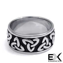 Load image into Gallery viewer, ENXICO Triquetra The Trinity Celtic Knot Ring ? 316L Stainless Steel ? Irish Celtic Jewelry … (10)