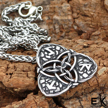 Load image into Gallery viewer, ENXICO Triquetra Trinity Celtic Knot Pendant Necklace ? 316L Stainless Steel ? Nordic Scandinavian Viking Jewelry