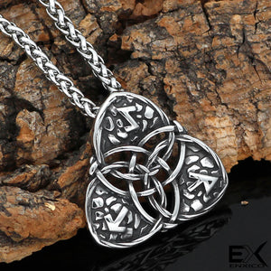 ENXICO Triquetra Trinity Celtic Knot Pendant Necklace ? 316L Stainless Steel ? Nordic Scandinavian Viking Jewelry