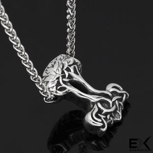 ENXICO Yggdrasil Tree of Life Amulet Pendant Necklace ? 316L Stainless Steel ? Nordic Scandinavian Viking Jewelry