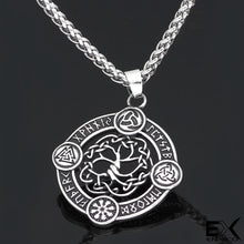 Load image into Gallery viewer, ENXICO Yggdrasil Tree of Life with Runic Circle Pendant Necklace ? 316L Stainless Steel ? Nordic Scandinavian Viking Jewelry