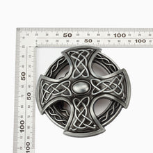 Load image into Gallery viewer, GUNGNEER Leather Celtic Knot Cross Trinity Bucket Belt Jewelry Accessories for Men Women