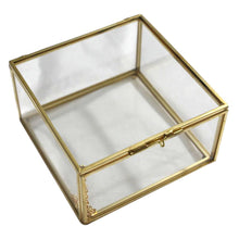 Load image into Gallery viewer, 2TRIDENTS Geometric Glass Style Jewelry Box - Decorations Glass Gift Holder Jewelry Storage Box for Women