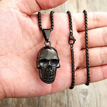 Load image into Gallery viewer, GUNGNEER Gothic Joker Clown Skull Necklace Ring Stainless Steel Biker Halloween Jewelry Set
