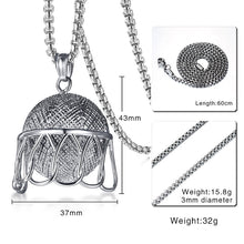 Load image into Gallery viewer, GUNGNEER Basketball Rim Necklace Stainless Steel Hiphop Sports Jewelry For Boys Girls