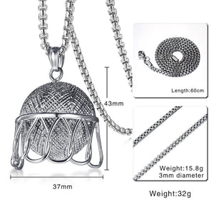 GUNGNEER Basketball Rim Necklace Stainless Steel Hiphop Sports Jewelry For Boys Girls