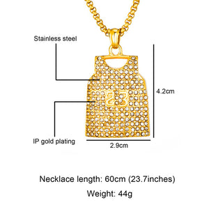 GUNGNEER Legend 23 Basketball Necklace Stainless Steel Sports Jewelry For Boys Girls