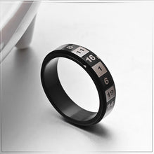 Load image into Gallery viewer, GUNGNEER Stainless Steel Rotatable Rainbow Color Roman Numerals Number Ring Jewelry Men Women