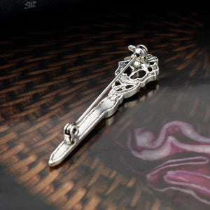 GUNGNEER Celtic Knot Triquetra Irish Trinity Crystal Stone Hair Pin Brooch Jewelry Accessories