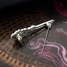 Load image into Gallery viewer, GUNGNEER Celtic Knot Triquetra Irish Trinity Crystal Stone Hair Pin Brooch Jewelry Accessories