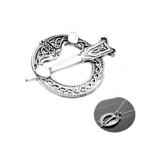 GUNGNEER Celtic Knot Irish Trinity Hair Pin Brooch Clip Jewelry Accessories for Women Men