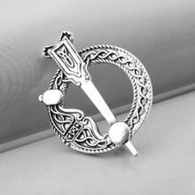 Load image into Gallery viewer, GUNGNEER Celtic Knot Irish Trinity Tree of Life Necklace Hair Pin Brooch Jewelry Set Women Men