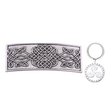 Load image into Gallery viewer, GUNGNEER Celtic Irish Knot Trinity Infinity Hair Pin with Triskele Key Chain Jewelry Outfit Set
