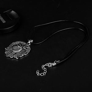 GUNGNEER Celtic Knot Tree of Life Yggdrasil Pendant Necklace Jewelry for Men Women Rope Chain