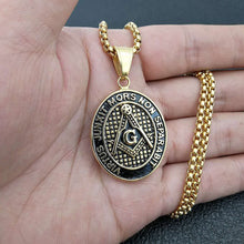 Load image into Gallery viewer, GUNGNEER Chain Eye of Providence Pendant Necklace Stainless Steel Masonic Item For Men