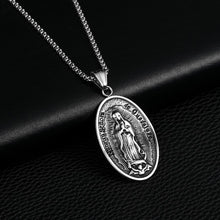 Load image into Gallery viewer, GUNGNEER Vintage Religion Christian Mother Virgin Mary Medal Pendant Necklace Miraculous Jewelry