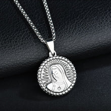 Load image into Gallery viewer, GUNGNEER Stainless Steel Mother Saint Virgin Mary Pendant Necklace Goldtone Silvertone Jewelry