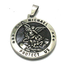 Load image into Gallery viewer, GUNGNEER Protect Us The Archangel St Michael Pendant Steel Jewelry For Men Women