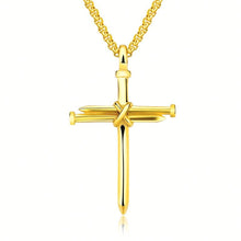 Load image into Gallery viewer, GUNGNEER Personalized Cross Necklace Stainless Steel Jesus Jewelry Gift For Men Women