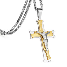 Load image into Gallery viewer, GUNGNEER Christian Cross Pendant Necklace God Biker Jewelry Accessory For Men Women