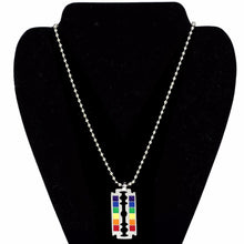 Load image into Gallery viewer, GUNGNEER Rainbow Pride Dog Tag Necklace LGBT Gay Lesbian Jewelry Accessory For Men Women