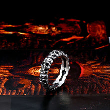 Load image into Gallery viewer, GUNGNEER Stainless Steel Gothic Skull Necklace Biker Ring Men Women Halloween Jewelry Set