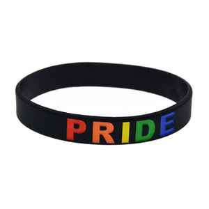 GUNGNEER LGBT Pride Bracelet Silicone Bangle Gay Lesbian Jewelry Gift For Men Women