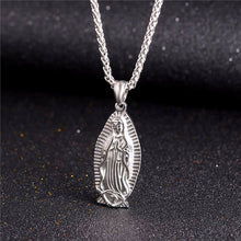 Load image into Gallery viewer, GUNGNEER Christian Classic Mother of God Mary Pendant Necklace Wheat Chain Jewelry Talisman