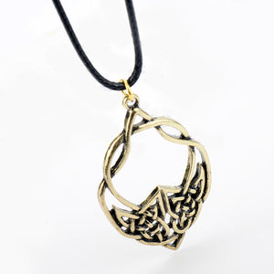 GUNGNEER Celtic Trinity Knots Infinity Stainless Steel Pendant Necklace Cord Chain Jewelry
