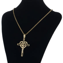 Load image into Gallery viewer, GUNGNEER Pray Necklace With Cross Stainless Steel God Jewelry Accessory For Men Women