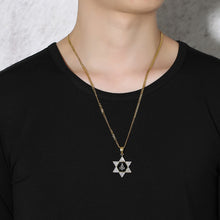 Load image into Gallery viewer, GUNGNEER Pentagram Freemason Pendant Necklace Men's Stainless Steel Basic Ring Combo