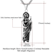 Load image into Gallery viewer, GUNGNEER Jesus Necklace Stainless Steel Christian Cross Jewelry Accessory For Men Women