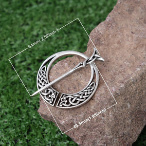 GUNGNEER Celtic Knot Viking Dragon Brooch Hair Pin Amulet Stainless Steel Accessories