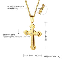Load image into Gallery viewer, GUNGNEER Christian Cross Necklace Jesus Pendant Chain Jewelry Accessory For Men Women