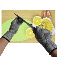 Load image into Gallery viewer, 2TRIDENTS Cut Resistant Gloves Ideal for Woodworking Fish Filletting Meat Cutting Food Grade Protection (L, Black Gray)