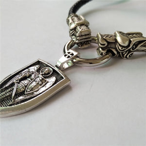 GUNGNEER Archangel St Michael Necklace Shield Amulet Protection Jewelry For Men Women